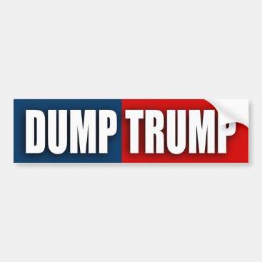 """""""DUMP TRUMP"""" BUMPER STICKER"""