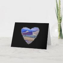 Dune Heart Romance Valentine Love Card