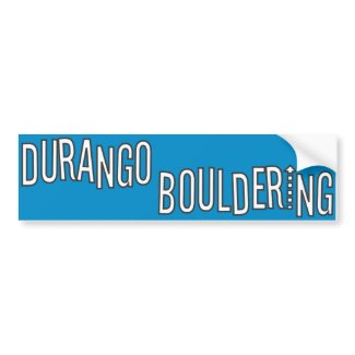 Durango Bouldering Bumper Sticker bumpersticker