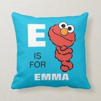 E is for Elmo Throw Pillow   Zazzle