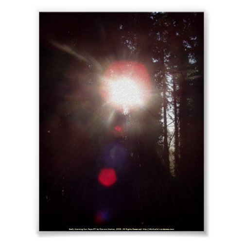 Early Morning Sun Rays #1 print