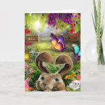 Easter Bunny Daydream Holiday Card