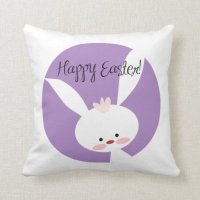 Easter Bunny Throw Pillow | Zazzle
