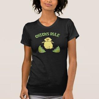 Easter Chicks Rule Ladies Tshirt