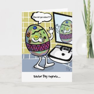 Easter Day regrets Greeting Card card