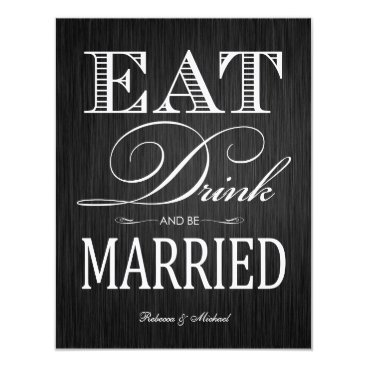 Eat Drink and be Married - Felt Invitation
