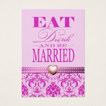 Eat Drink and be Married - Pretty in pink Business Card