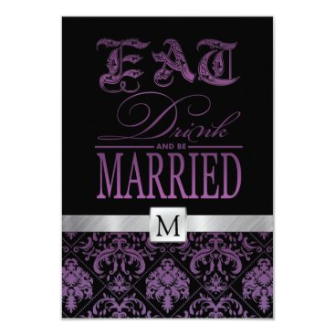 Eat Drink and be Married RSVP Card