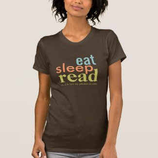 Eat Sleep Read Priorities in Order Retro Colors Shirt