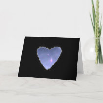 Eclipsed Heart in the Clouds Valentine Love cards