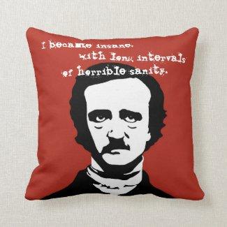 Edgar Allan Poe Insane Quote Silhouette