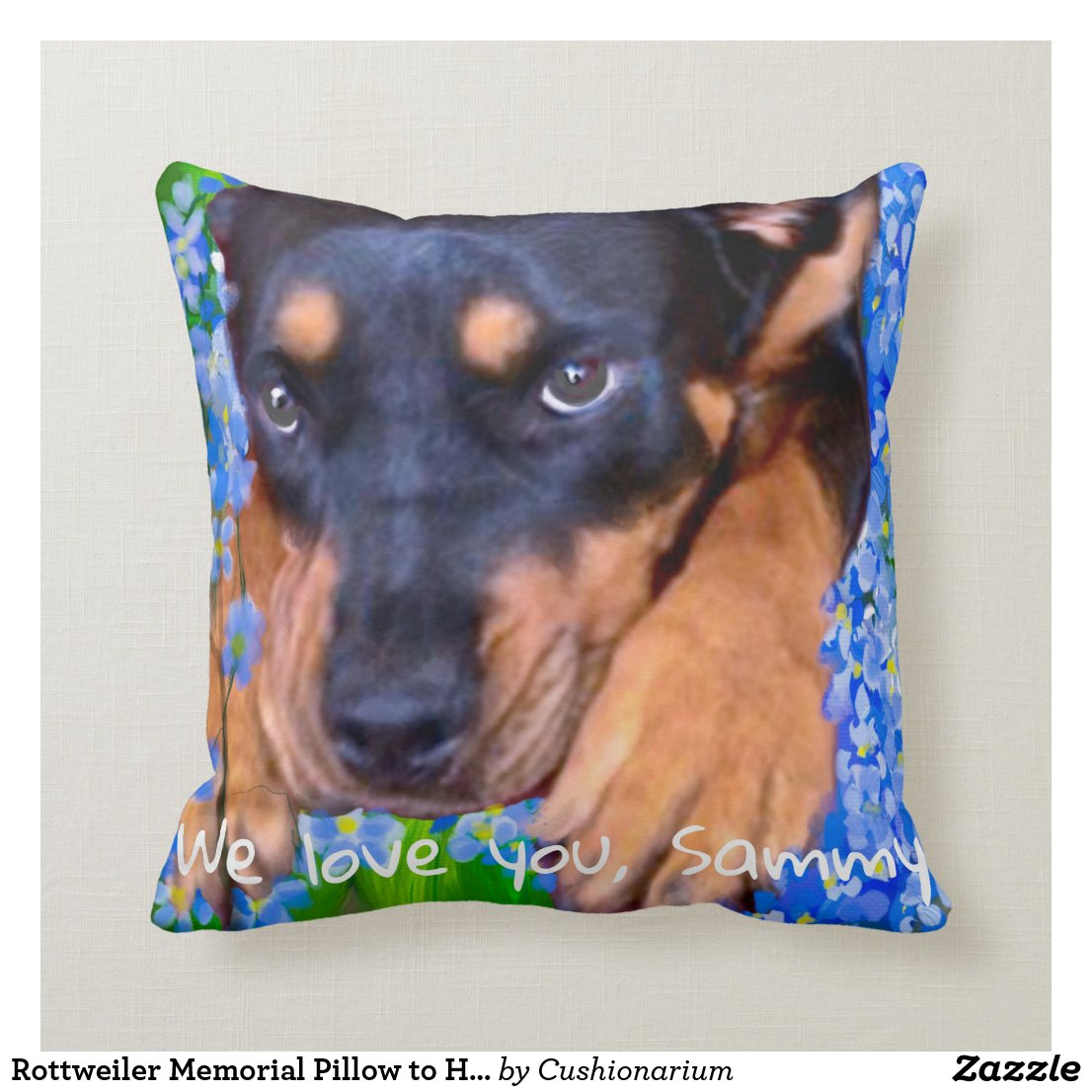 Editable Pet Memorial Pillow to Hug