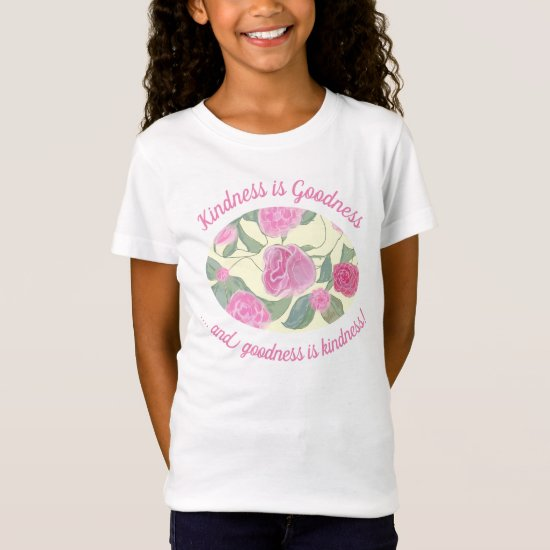 Editable Pink Floral Pattern With Quote T-Shirt