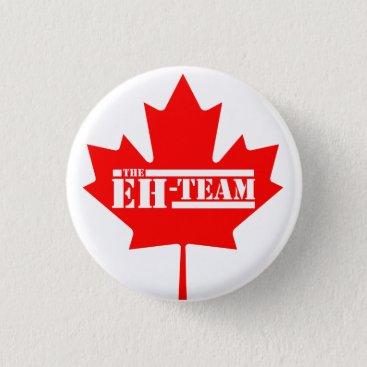 Eh Team Canada Maple Leaf Pinback Button
