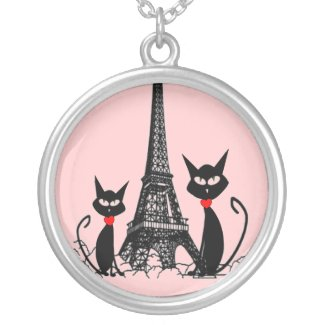 Retro French Black Cat Necklaces