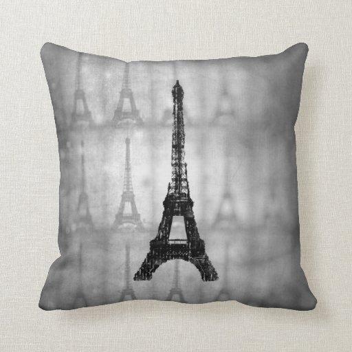 Eiffel Tower French Throw Pillow  Zazzle