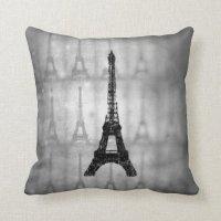 Eiffel Tower French Throw Pillow | Zazzle