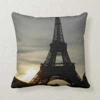 Eiffel Tower Throw Pillow | Zazzle