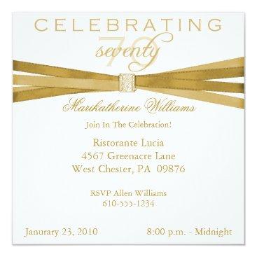 Elegant 70th Birthday Party Invitations