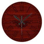 Elegant and Stylish Bon appetit Red Cherry Wood Clocks
