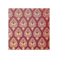 Elegant,beautiful,burgundy,gold,damask,oriental,ch Wood