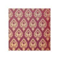 Elegant,beautiful,burgundy,gold,damask,oriental,ch Wood ...