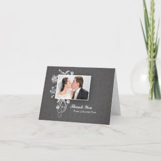 Elegant beautiful wedding note card