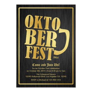 Elegant Black and Gold Oktoberfest 2014 Card