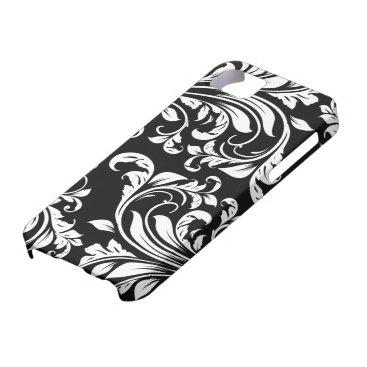 Elegant Black and white floral damask iPhone SE/5/5s Case