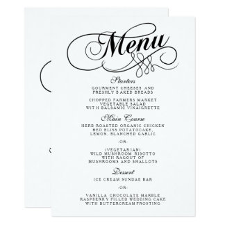 Clic Wedding Menu Format Template
