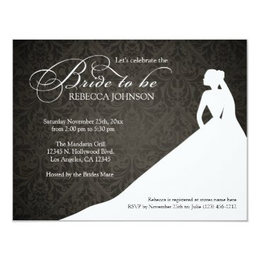 Elegant black & white 'Bride to Be' bridal shower Card