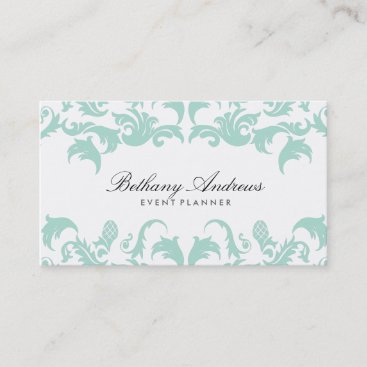 Elegant Blue Damask Business Cards - Groupon