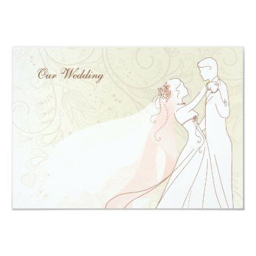 Elegant Bride and Groom Wedding RSVP Cards