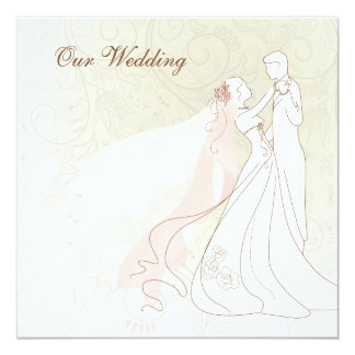 Sle Wedding Invitation From Bride And Groom