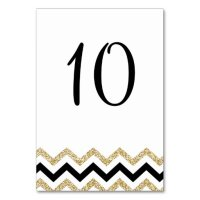 Elegant Chevron Table Numbers For Wedding Card | Zazzle