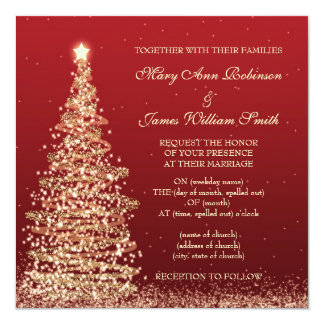 Christmas Wedding Invitations Style 675