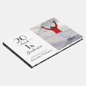 Elegant Class Of [YEAR] Photo Pattern Graduation Guest Book