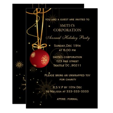 Elegant Corporate Holiday Party Invitations