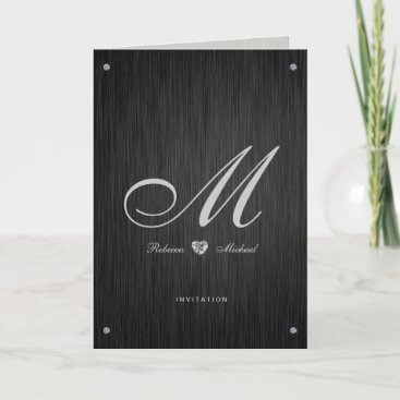 Elegant Diamond Themed Wedding Invitations