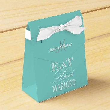 Elegant Eat, Drink and be Married Favor Box