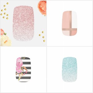 Elegant Fashionable Nail Wrap Designs