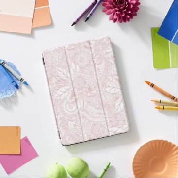 Elegant faux rose gold floral mandala design iPad pro cover