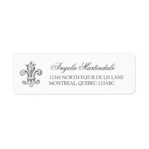 Elegant Fleur de Lis Label