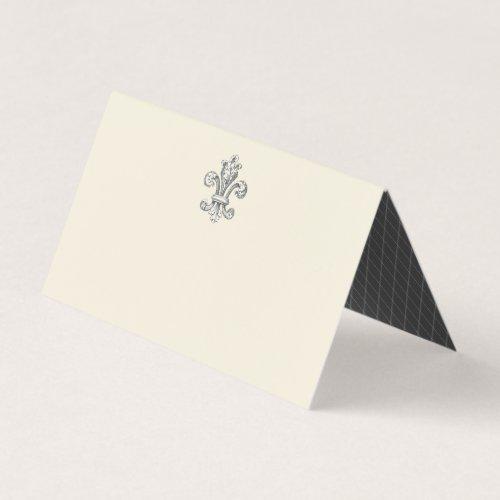 Elegant Fleur de Lis Wedding Place Card