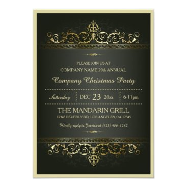 Elegant Formal Company Christmas Party Invitation