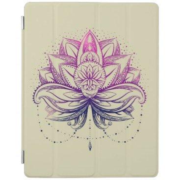 Elegant Gentle Purple  Watercolor Lotus / Lily flo iPad Smart Cover