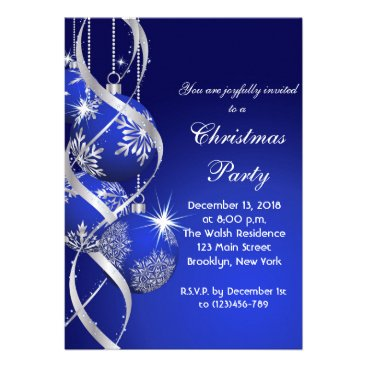 Elegant Holiday Christmas Party Invitation Card