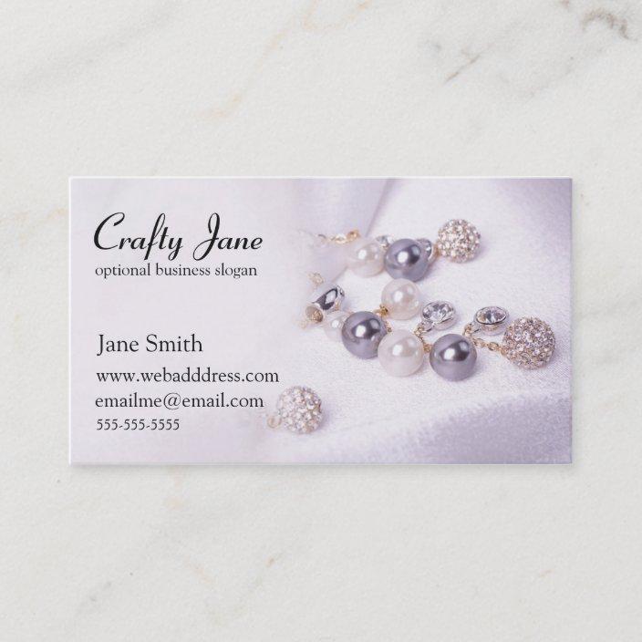 Elegant Jewelry Business Card Design Template Zazzle Com