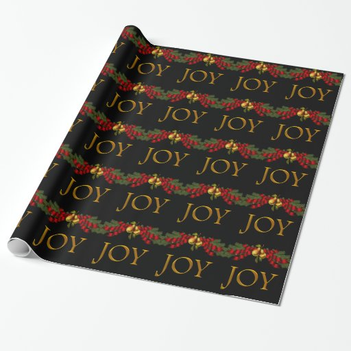 Elegant Joy Christmas Wrapping Paper Zazzle