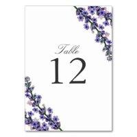 Elegant Lavender Wedding Table Number Card | Zazzle